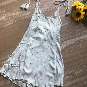 Free People Intimately blue sequin tunic dress XS